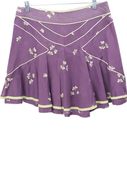 Marc Jacobs Purple Beige Floral Cotton Skirt 1