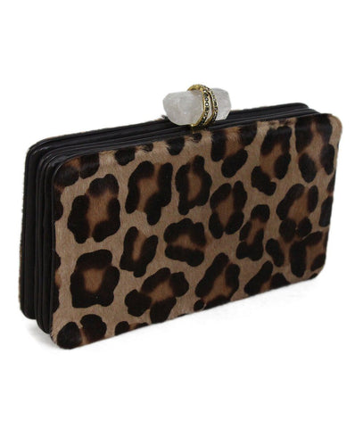 Marchesa Animal Print Pony Hair Clutch 1