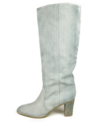Margiela Grey Denim Boots 1