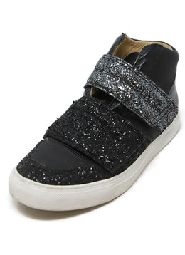 Martin Margiela Black and Silver Sneaker with Glitter Detail 1