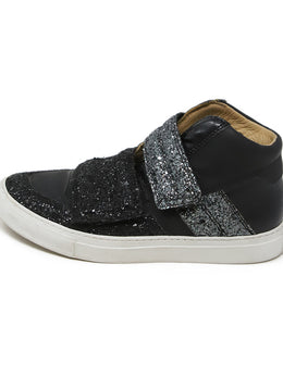 Martin Margiela Black and Silver Sneaker with Glitter Detail 2
