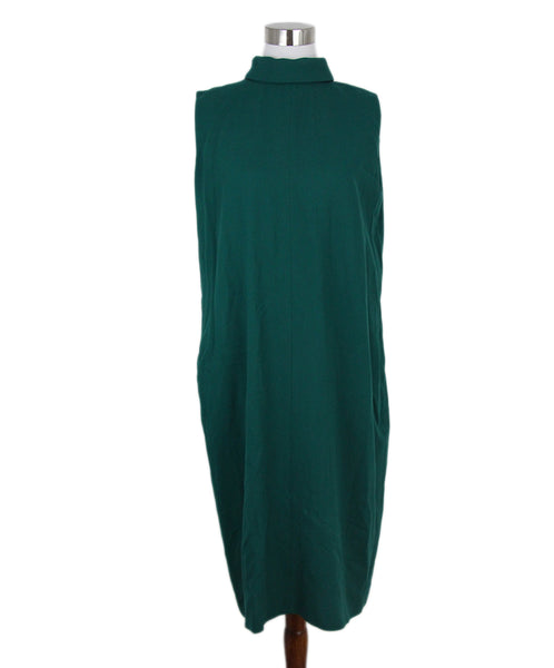 Margiela green wool dress 1
