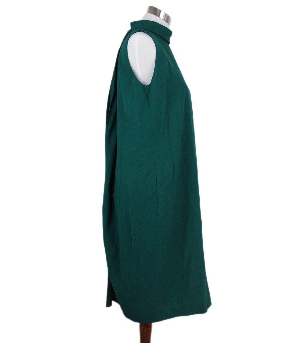 Margiela green wool dress 2