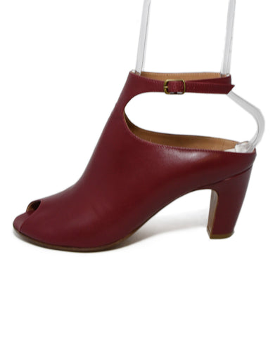 Margiela Red Brick Leather Heels 1
