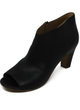 Maison Martin Margiela Black Leather Peep Toe Booties 1