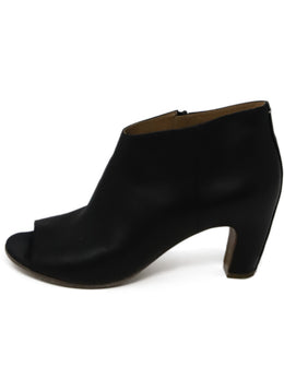 Maison Martin Margiela Black Leather Peep Toe Booties 2