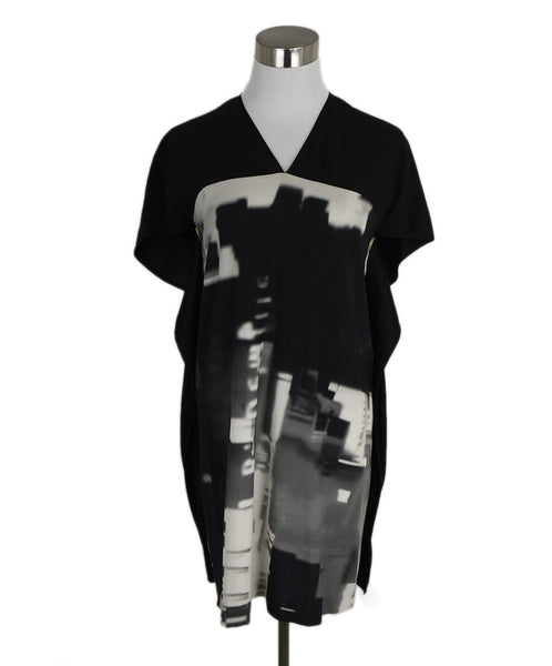 Maria + Cornejo Black White Print Silk Top 1