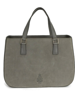 Mark Cross Grey Suede Handbag 1