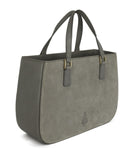 Mark Cross Grey Suede Handbag 2