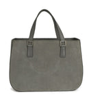 Mark Cross Grey Suede Handbag 3