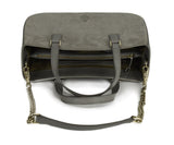 Mark Cross Grey Suede Handbag 5