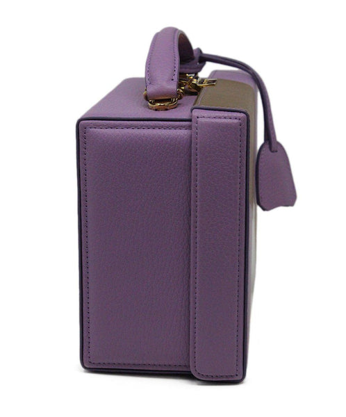 Mark Cross Purple Leather Box Bag 1