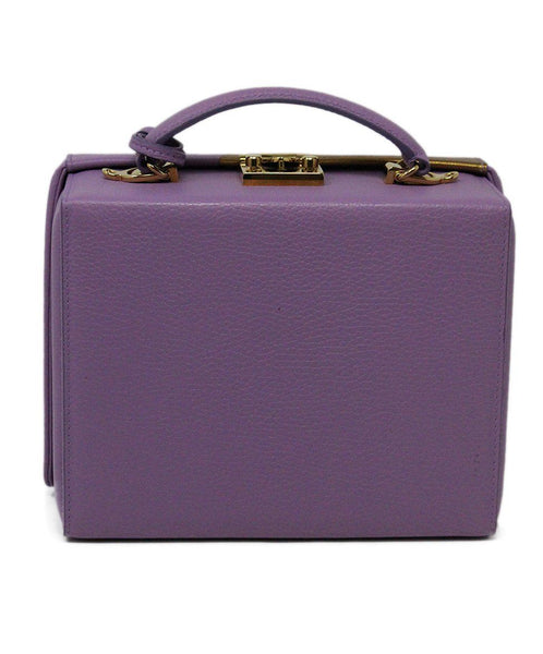 Mark Cross Purple Leather Box Bag 2
