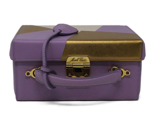 Mark Cross Purple Leather Box Bag 5