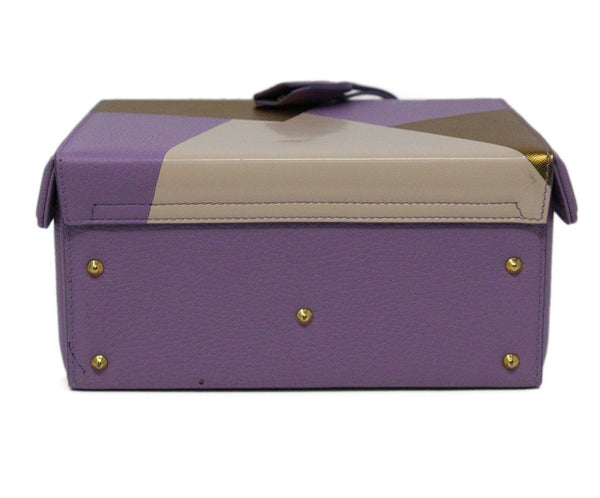 Mark Cross Purple Leather Box Bag 4