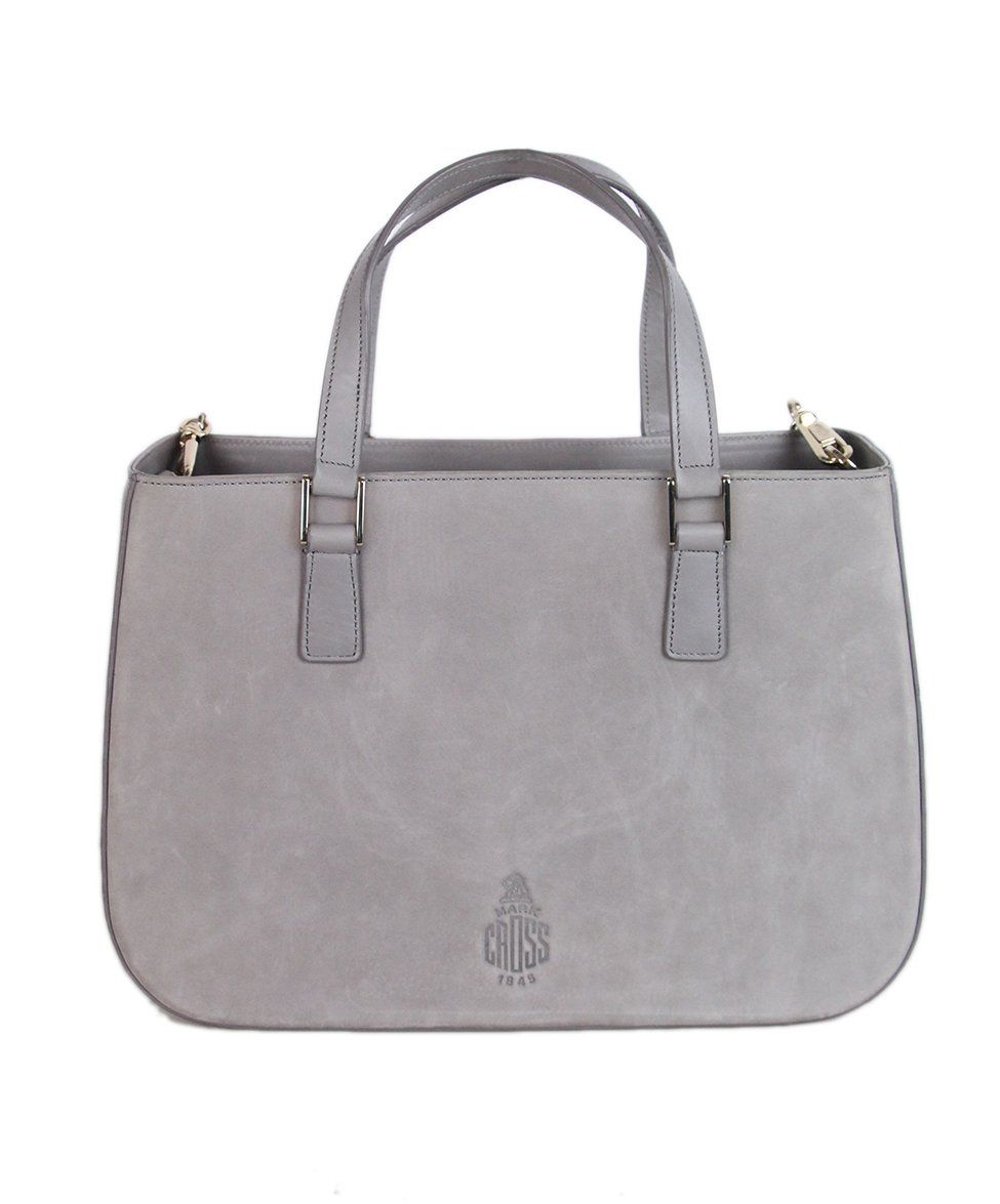 Mark Cross grey Suede Satchel 1