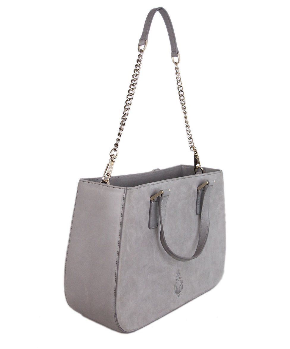 Mark Cross grey Suede Satchel 2