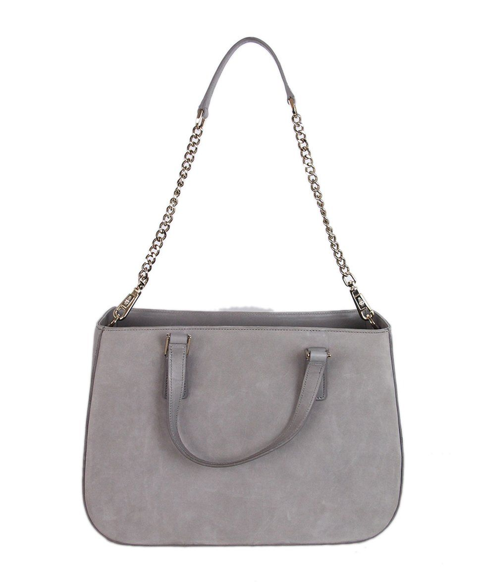 Mark Cross grey Suede Satchel 3