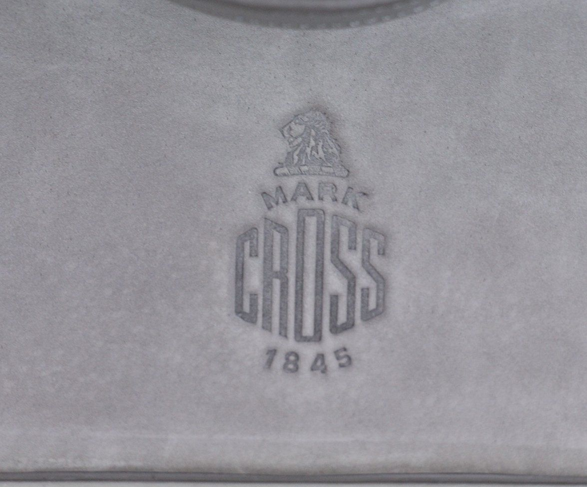 Mark Cross grey Suede Satchel 9