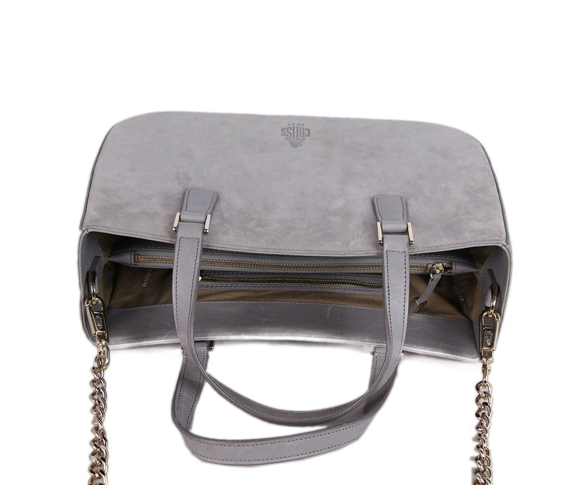 Mark Cross grey Suede Satchel 5