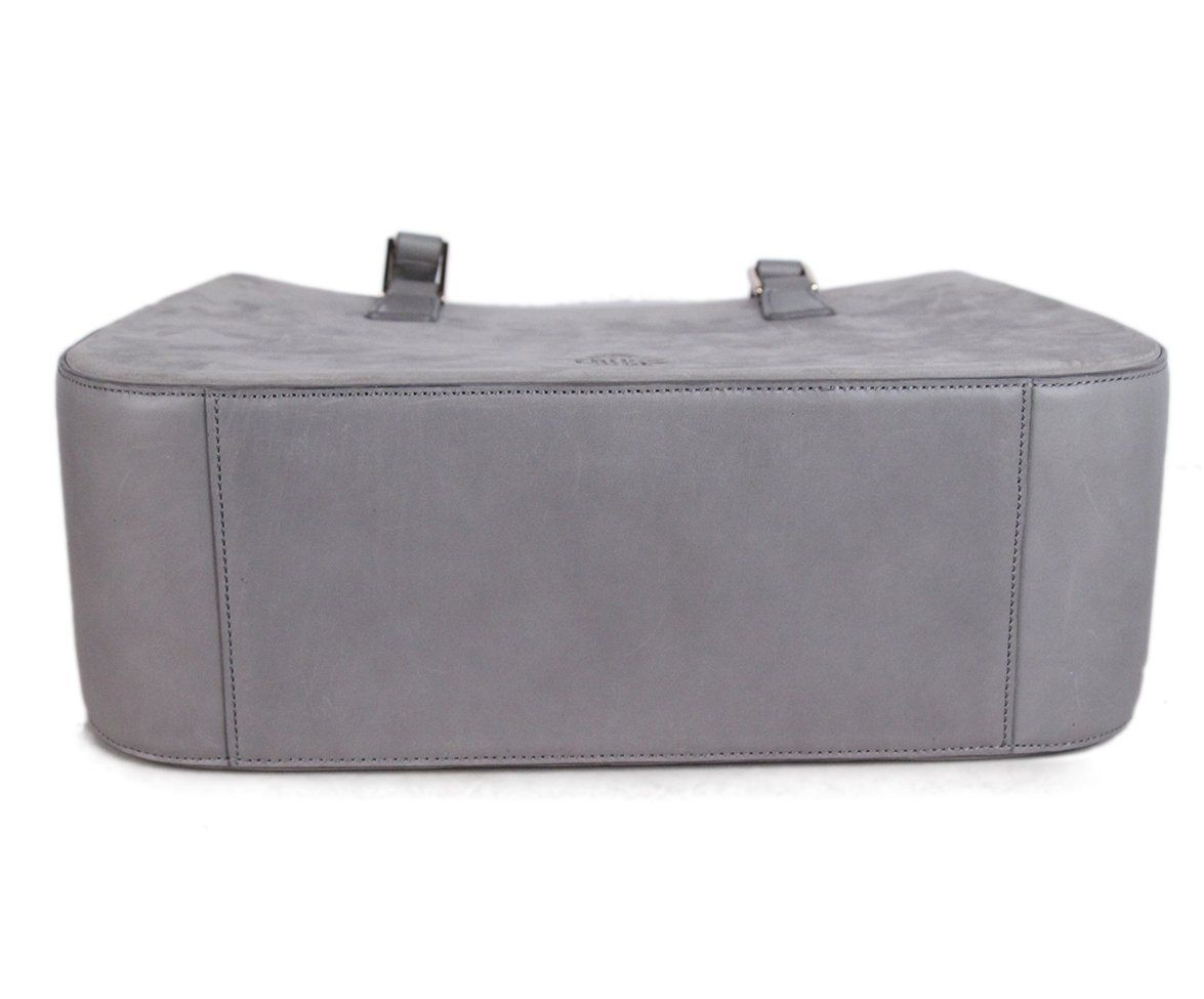 Mark Cross grey Suede Satchel 4
