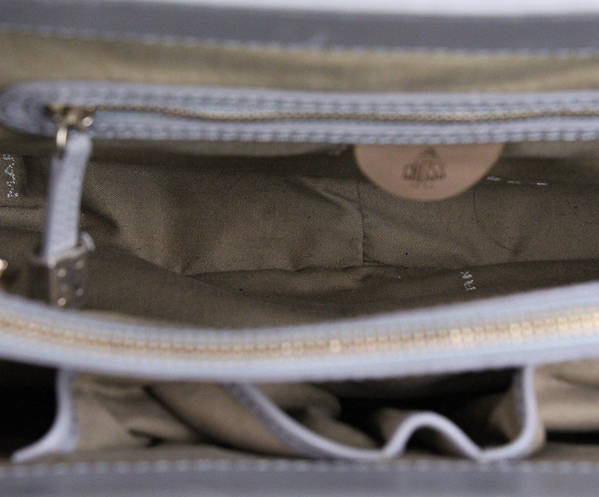 Mark Cross grey Suede Satchel 7