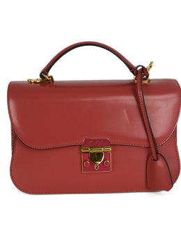 Mark Cross Pink Leather Satchel 1