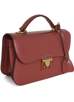 Mark Cross Pink Leather Satchel 2