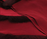 Mark Snider Burgundy Silk Scarf with Fur Trim Details 4