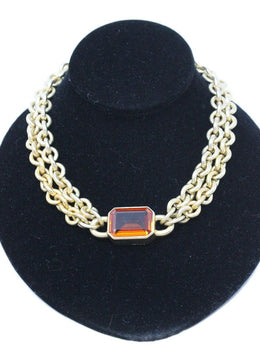 Mark Spirito Gold Chain Necklace with Vermeil Citrine Pendant 1