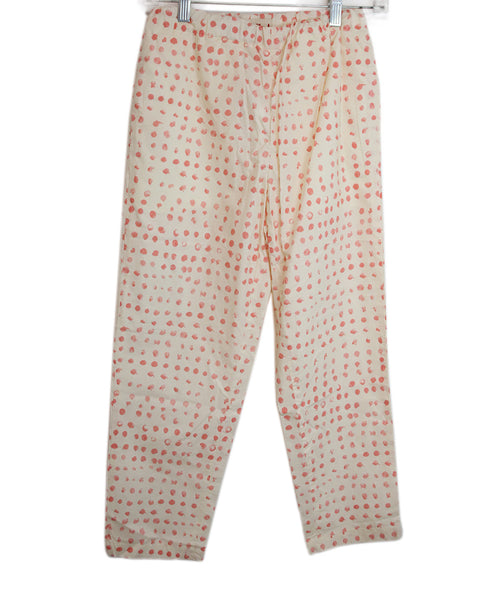 Marni Beige Salmon Polka Dot Cotton Pants 1