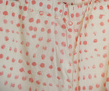Marni Beige Salmon Polka Dot Cotton Pants 4