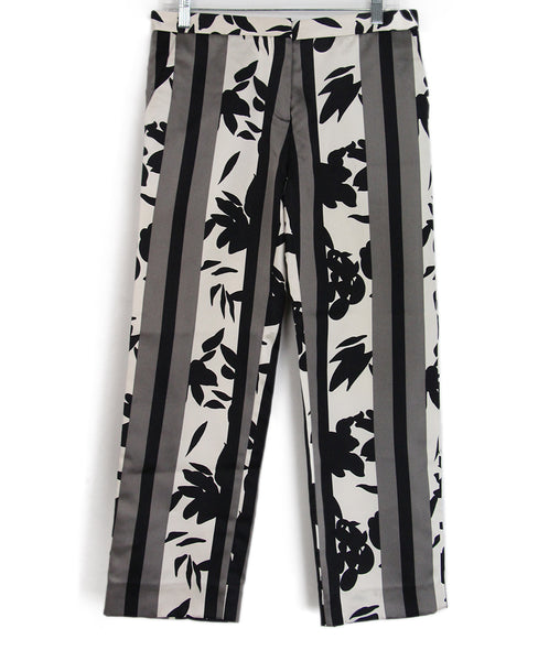 Marni Black Grey Print Pants 1