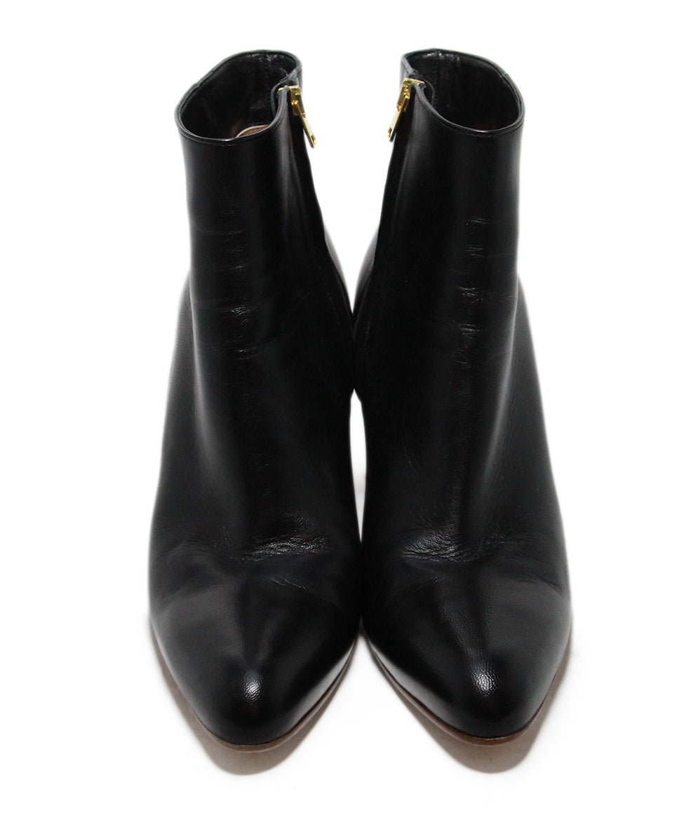 Marni Black Leather Wood Heel Boots 4