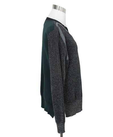 Marni Black Lurex Green Sweater 1
