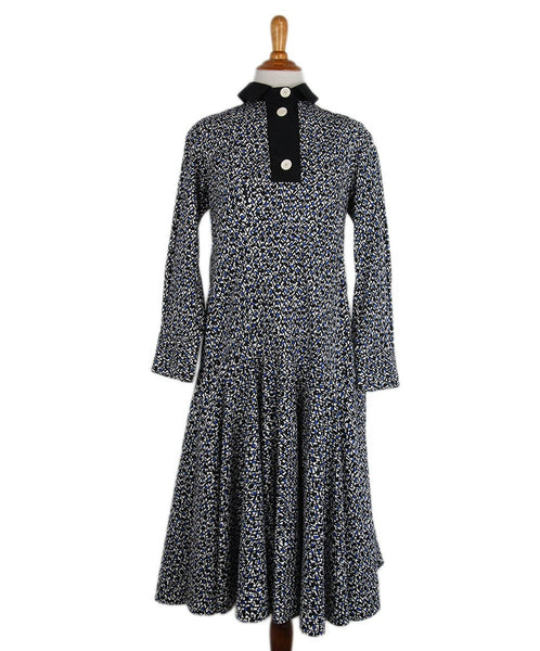 Marni Blue Black Print Dress 1