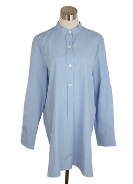 Marni Blue Cotton Poplin Blouse 1