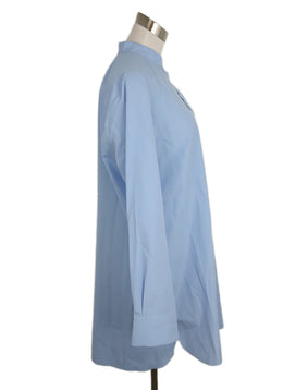 Marni Blue Cotton Poplin Blouse 2