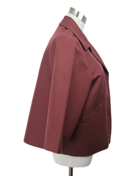Marni Burgundy Cotton Wool Jacket 2