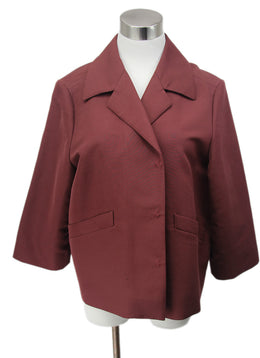 Marni Burgundy Cotton Wool Jacket 1