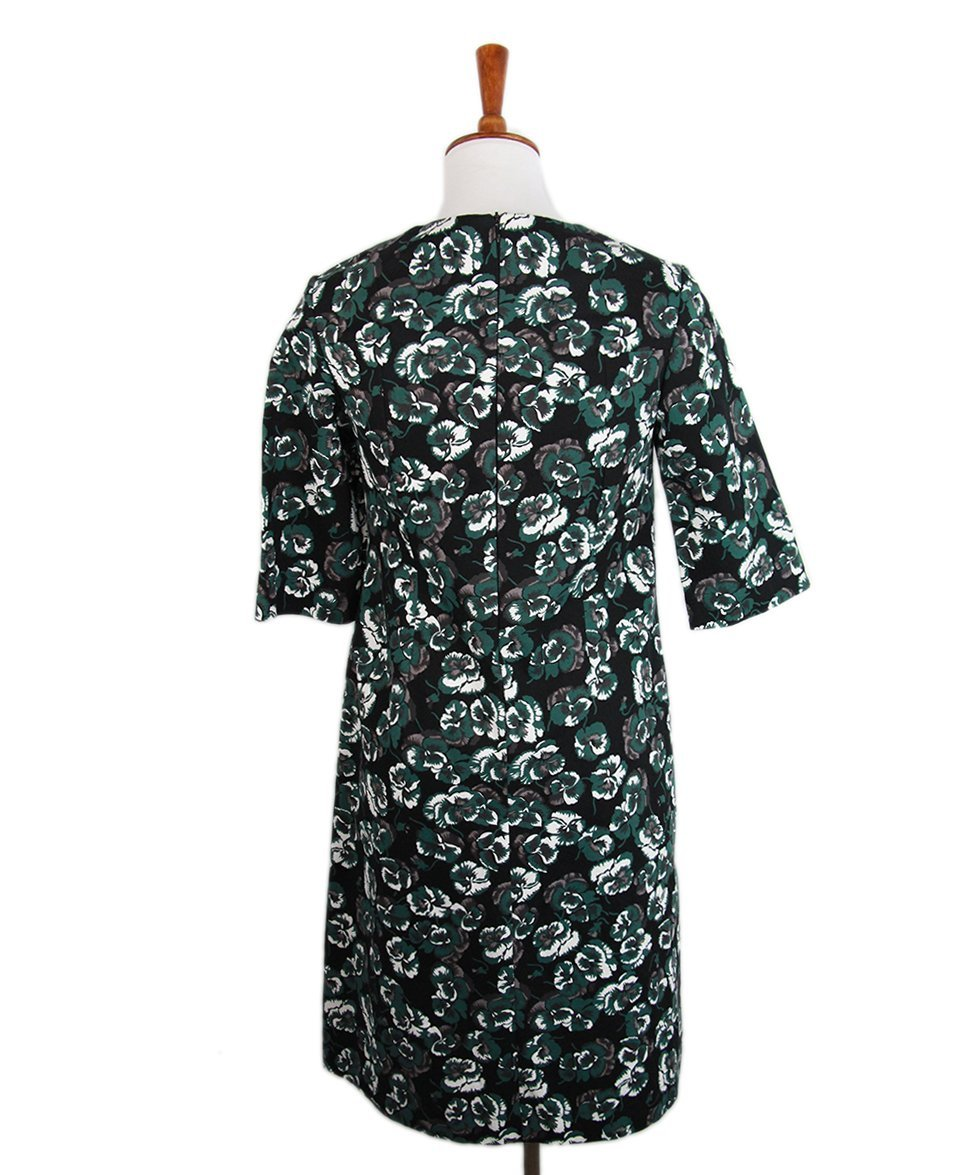 Marni Green Black Cotton Dress 3