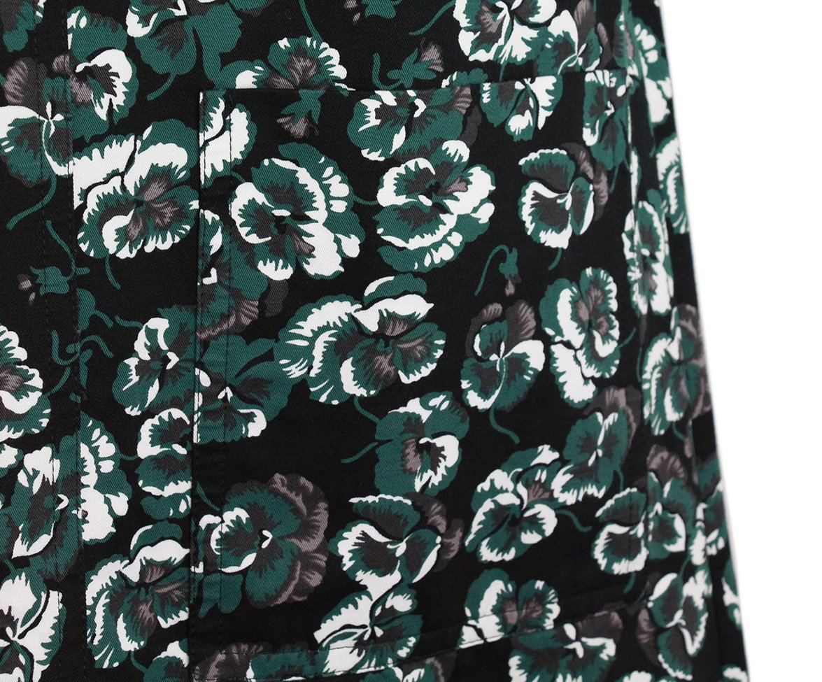 Marni Green Black Cotton Dress 5