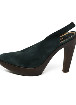 Heels Marni Shoe Green Brown Suede Wood Shoes 1