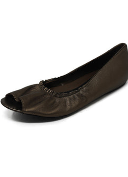 Marni Metallic Brown Leather Flats 1