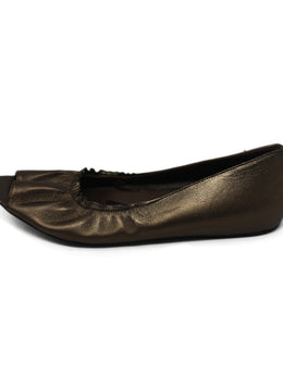 Marni Metallic Brown Leather Flats 2