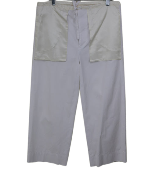 Marni White Cotton Pants