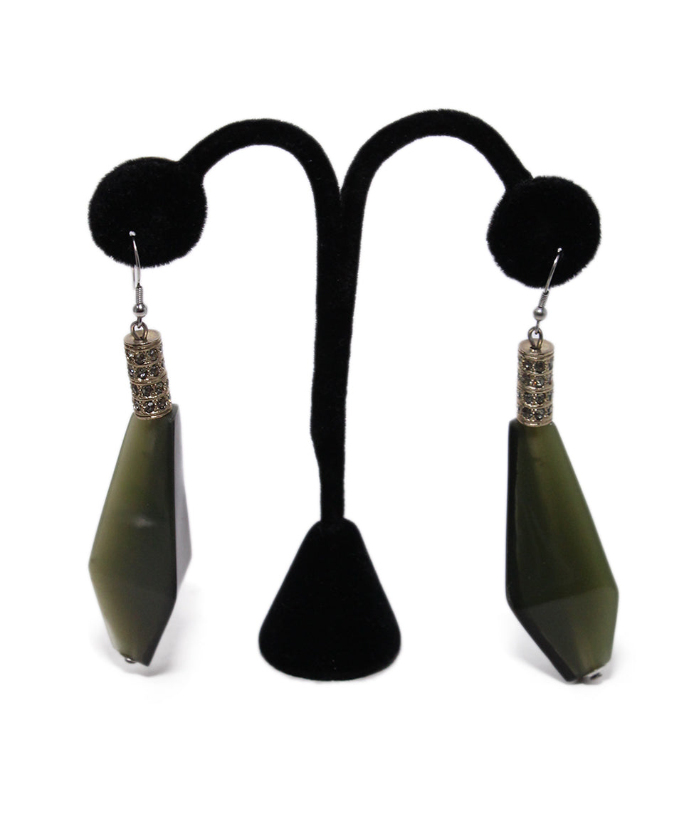 Marni Olive Green Earrings 1