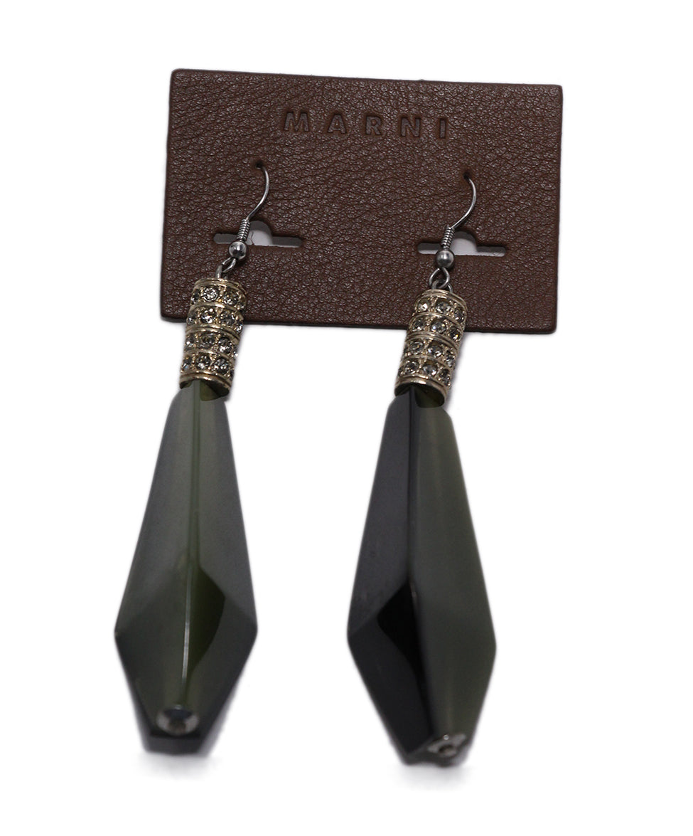 Marni Olive Green Earrings 3