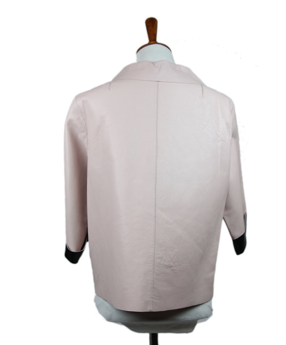 Marni Pink Pale Leather Jacket 3