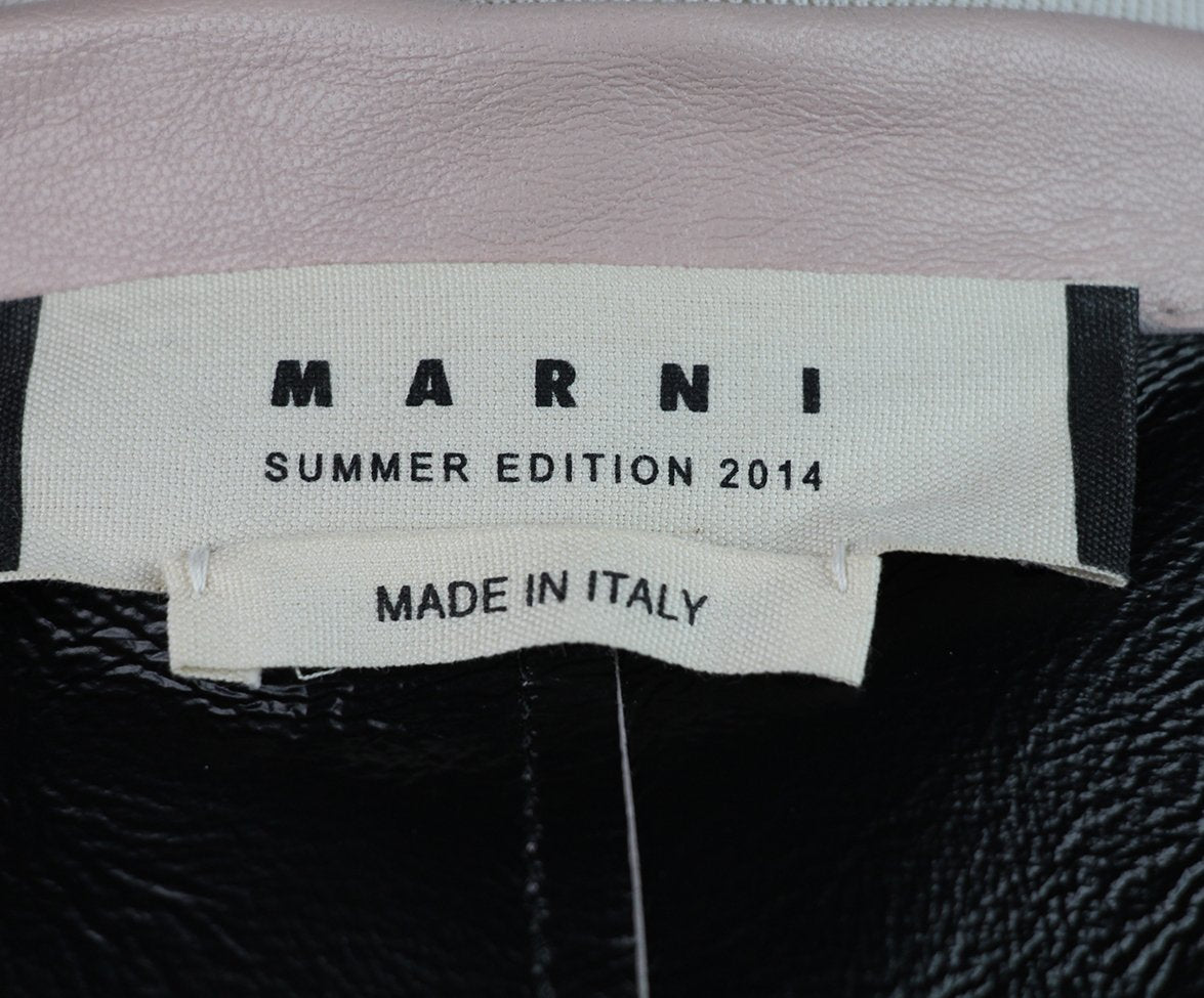 Marni Pink Pale Leather Jacket 6